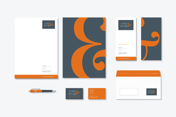 Graphic Design Plymouth: Cosy & Snug Stationery Suite