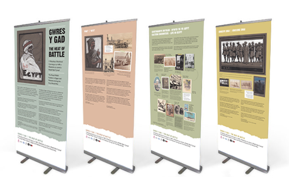 Graphic Design Plymouth: Wrexham Museum Exhibition Banners